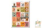 Наборы по 80 наклеек в виде марок: Винтажные иллюстрации