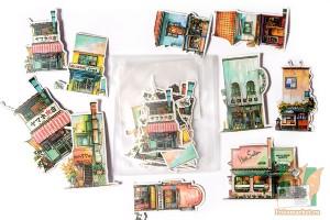 Набор наклеек Камио: Старый Токио
