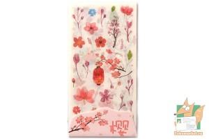Набор наклеек из 6 листов: Цветы сакуры