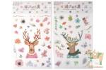 Наборы наклеек: Олени и цветы