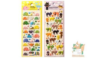 Наборы дутых наклеек: Слоны и кошки