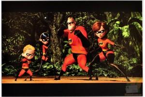 Открытки студии Pixar: The Incredibles