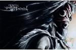 Почтовая открытка по мультфильмам Миядзаки - Принцесса Мононоке в маске