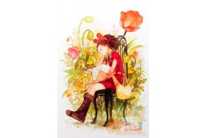 Почтовая открытка по мультфильмам Миядзаки - Добывайка Ариэтти