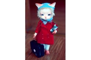 Открытка: Грустная кошка