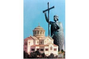 Владимирский собор и памятник Владимиру Великому