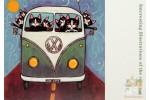 4 открытки: кошки и собаки в Фольцвагене