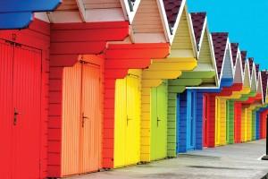 Открытка: Разноцветные домики