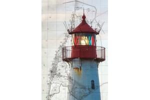 Открытка: Бело-красный маяк