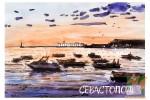 Открытка: Севастополь. Вечер