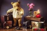 Открытка: Натюрморт с мишкой