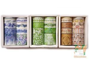 Скотч декоративный, наборы: Цветная флора