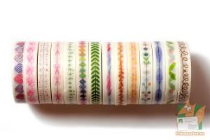 Скотч декоративный цветной 8мм*10м.