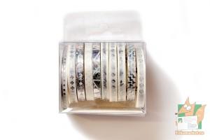 Скотч декоративный, набор из 10шт., 5мм*2м.: Серебрянный