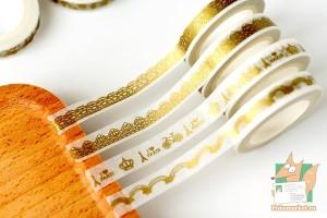 Скотч декоративный золотой 8мм*7м