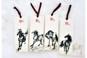 Закладки книжные: Лошади с лентами