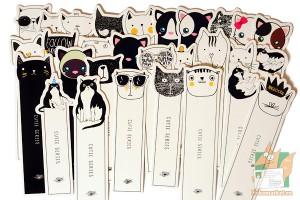 Фигурные закладки: Кошки ч/б
