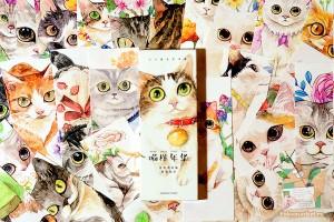 Закладки картонные: Рисованные кошки