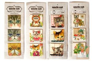 Наборы магнитных закладок с кошками