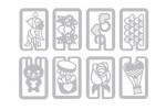Металлические закладки Holic