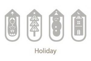 Металлические закладки Iconic Holiday