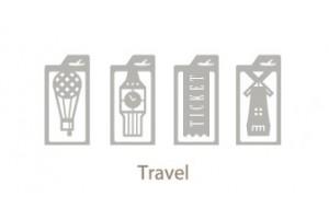 Металлические закладки Iconic Travel