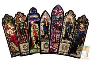 Фигурные закладки: Витражи