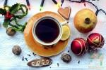Открытка: Зимнее чаепитие