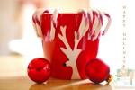 Открытка: Рождественская кружка с леденцами
