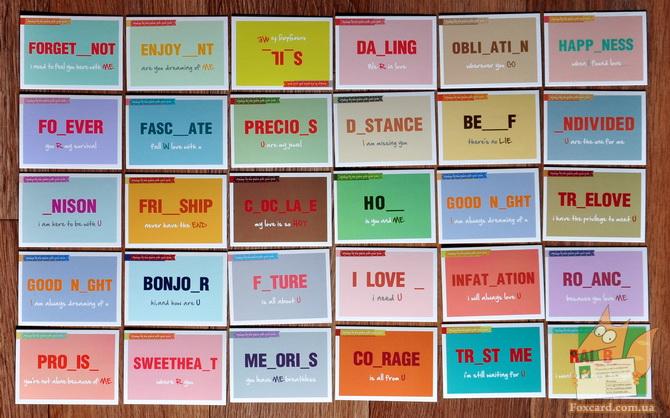 Карточки для записок