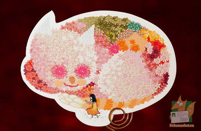 карточки цветочные животные