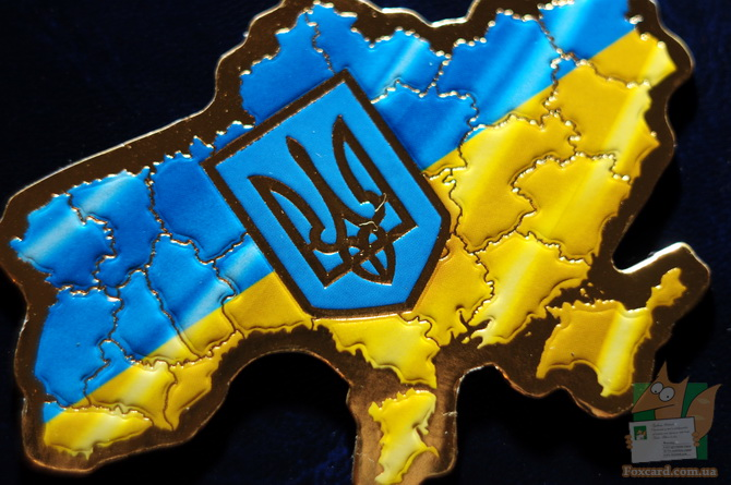 Магнит с картой Украины