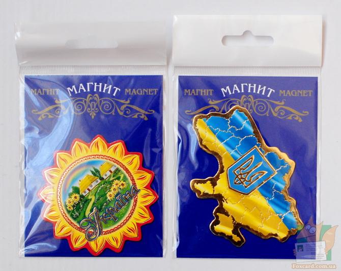 Магнит фигурный подсолнух Украина