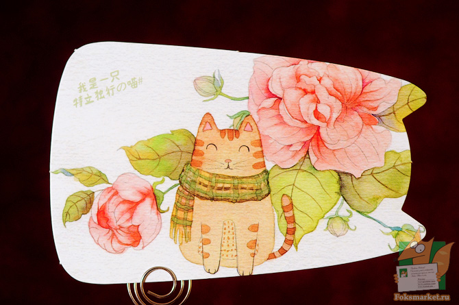 Набор фигурных открыток с кошками
