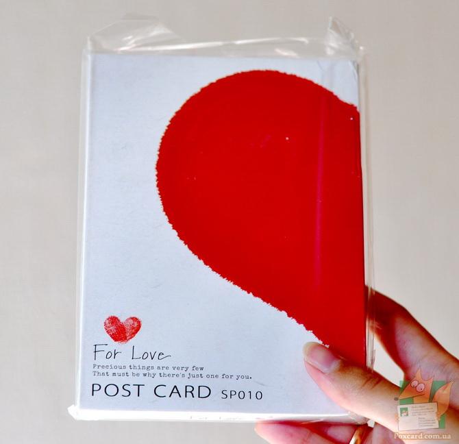 Романтический набор почтовых открыток на любовную тему