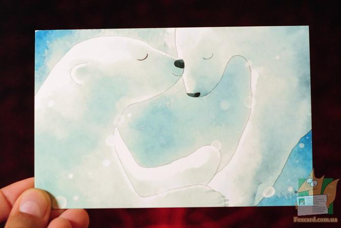 Набор открыток с поцелуями