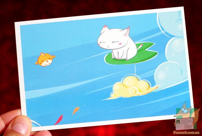 Набор почтовых открыток для посткроссинга с кошками