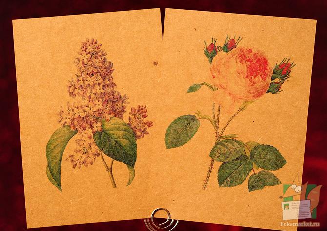 крафт цветы