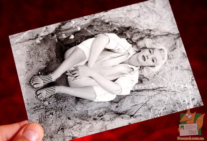 Набор черно-белых почтовых открыток для посткроссинга с Мэрилин Монро