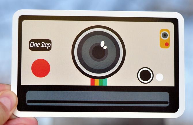 Набор фигурных открыток с фотоаппаратами