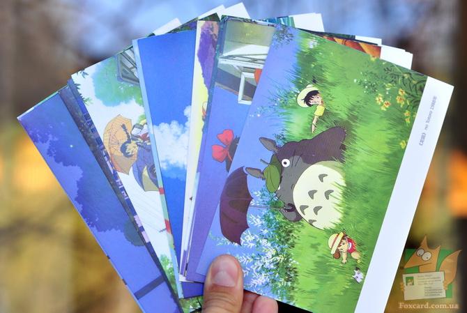 Набор почтовых открыток Миядзаки