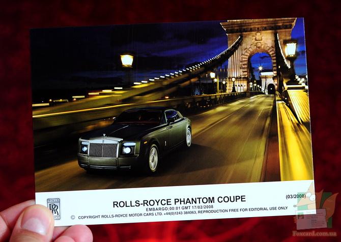 Набор открыток с автомобилями Роллс-ройс