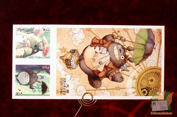 Набор почтовых открыток Totoro с игральными картами
