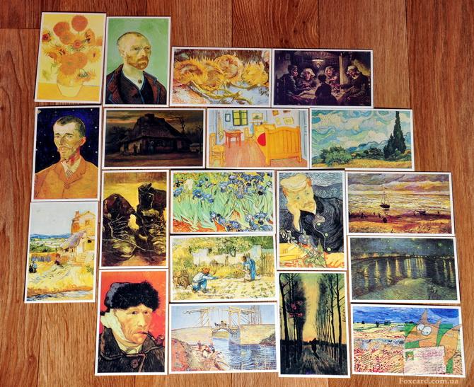 Набор почтовых открыток с художником Ван Гогом