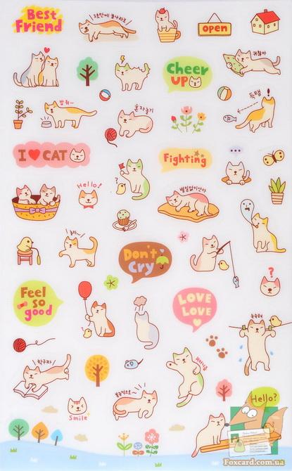 Наклейки, стикеры с кошками