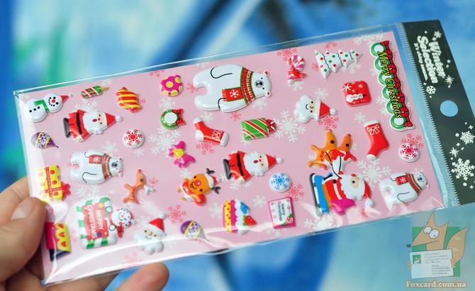 Наклейки дутые на открытки, телефон, кружки, холодильник.