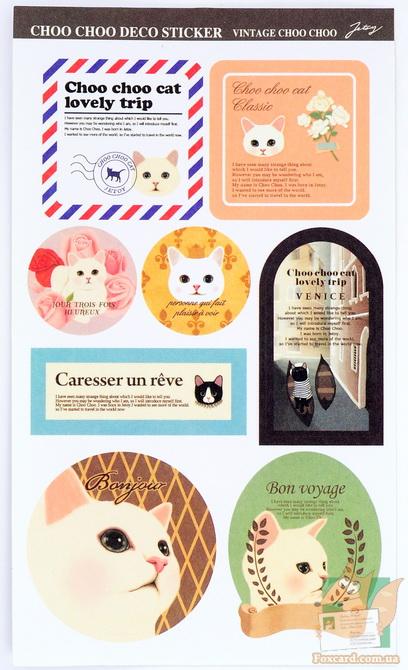 Наклейки и стикеры по корейским кошкам Jetoy