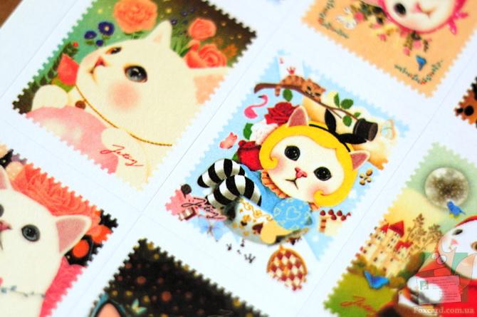 Наборы стикеров и наклеек с корейскими кошками Jetoy