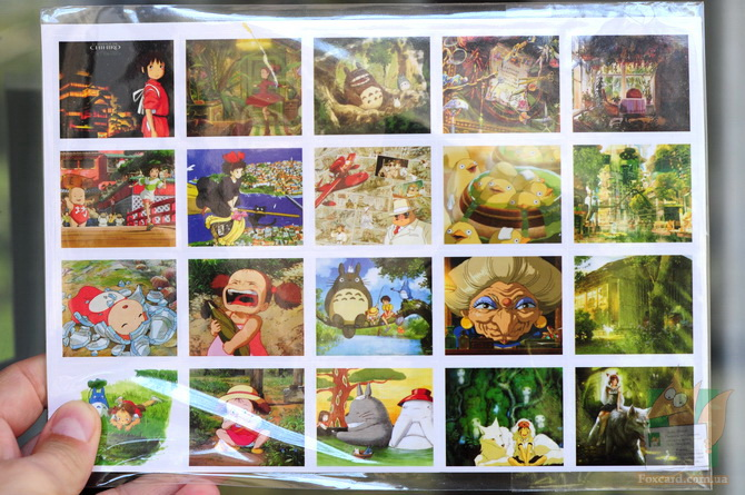 Наклейки (стикеры) по мультфильмам Хаяо Миядзаки