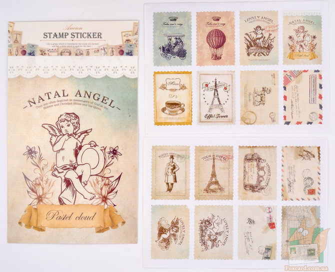 Наклейки в виде марок